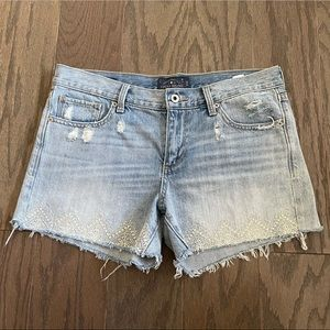 Lucky Brand Embroidered Denim The Cutoff Shorts